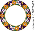 plate with flower / stained-glass window - stock photo
