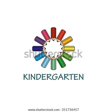 Playgroup, preschool, kindergarten logo template