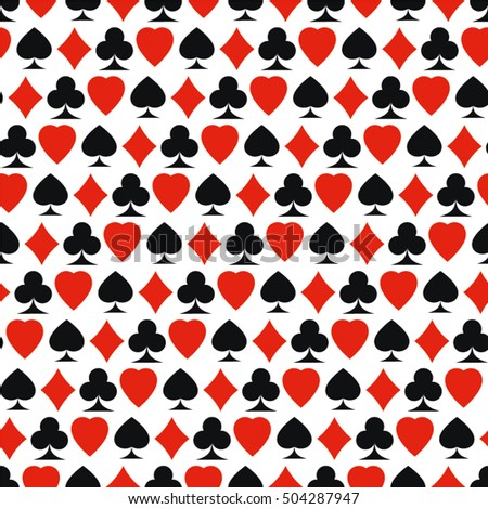 playing card, pattern, color, seamless vector background.