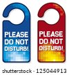 please do not disturb vector sign set (hotel hanger design) - stock vector