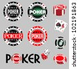 poker - stock vector