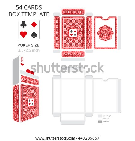 poker card size tuck box templatevector stock vector 449285782 shutterstock. Black Bedroom Furniture Sets. Home Design Ideas