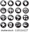 poker icon set - stock vector