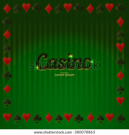poker vector background, abstract casino background, game background for your design