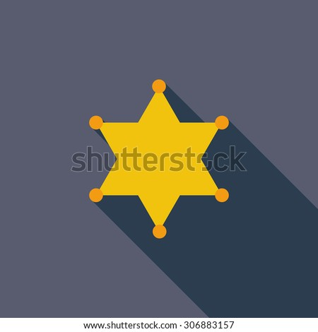 stock-vector-police-icon-flat-vector-related-icon-with-long-shadow-for ...