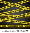 Police line. Do not cross. Vector crime scene background. - stock photo