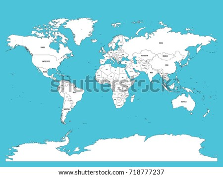 World map national borders oceans seas stock vector 496804984 political map of world white lands and blue seas vector illustration sciox Choice Image