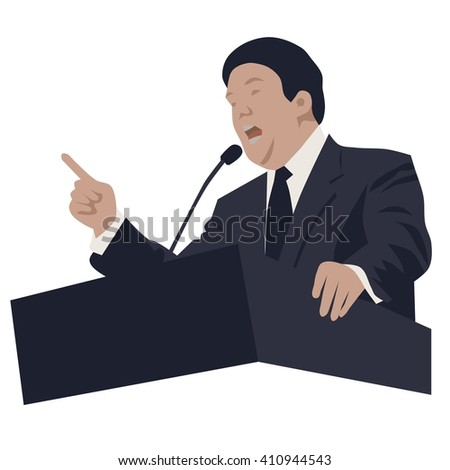 Politician and speaker, isolated vector