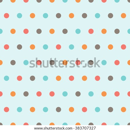 Polka dots pattern - seamless vector ornament. Fabric design.