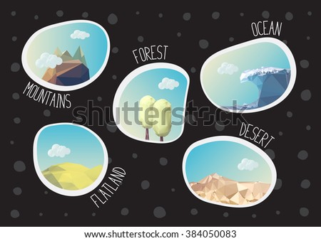 Six Days Creation Bible Creation Story Stock Vector ...