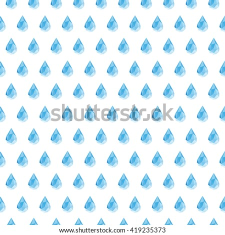 Rain Seamless Vector Pattern Background Stock Vector