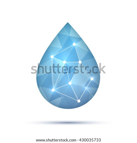 Earth Globe Shape Water Drop Vector Stock Vector