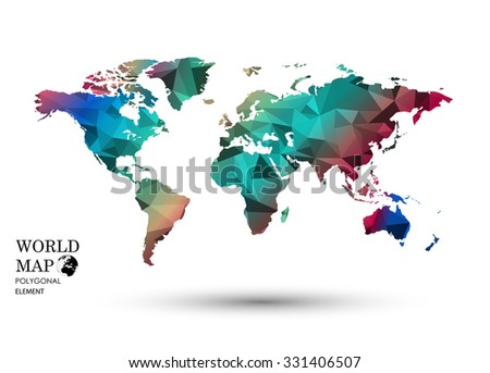World map names countries vector illustration vectores en stock polygonal world map vector gumiabroncs Image collections