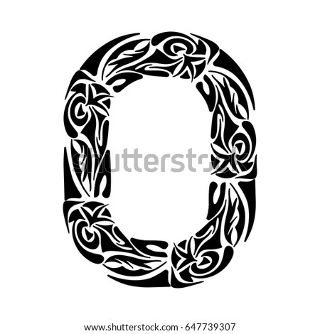 Hand Drawn Capital Letter B Black Stock Vector 363437147