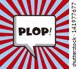 pop art design over lines background vector illustration - stock