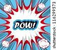 Pop Art explosion Background Pow! - stock vector