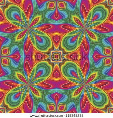 Pop art pattern in funky disco style
