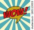 pop art text bubble, illustration in vector format - stock