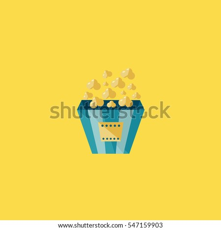 popcorn icon illustration isolated vector sign symbol