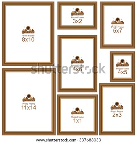 common picture frame sizes popular picture frame sizes wood border stock vector 28836