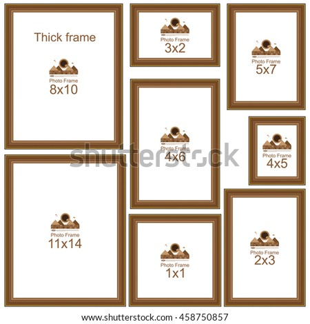 popular picture frame sizes wood border frame for picture or text border for