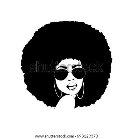 afro woman vector stock vector 693463081 shutterstock