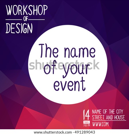 Poster Design Event Online Course Training Stock Vector 410807908