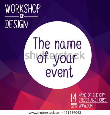 Banner Hackathon Workshop Square Banner Invitation Stock ...
