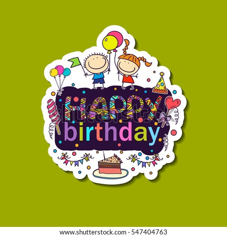 Poster Birthday Greetings Hands Painted Birthday Vector – Pics for Birthday Greetings