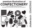premium illustration of confectionery - stock vector