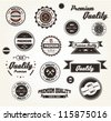 Premium Quality Labels with retro design /  EPS10 Compatibility Required - stock vector