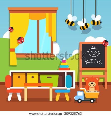 Kids Toy Box Full Toys Modern Stock Vector 425841280