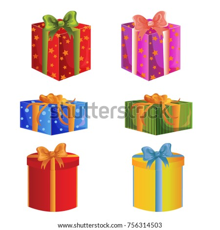 Price fall sale concept set big stock vector 497225080 shutterstock present gift box set negle Image collections
