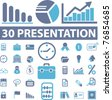 presentation icons, signs, vector illustrations - stock vector