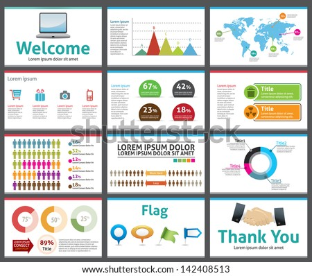 Presentation Template Business Company Slide Show Stock Vector