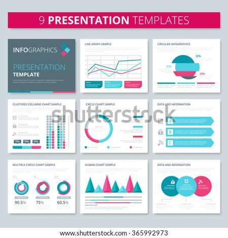Set Infographic Presentation Template Infographic Element – Corporate Report Template