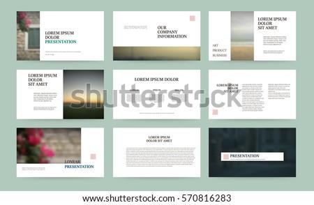 Presentation Templates Use Presentation Flyer Leaflet Vector – Corporate Report Template