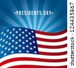 presidents day background, united states flag. vector illustration - stock vector