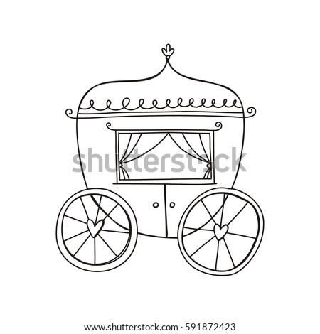 princess carriage page coloring pages