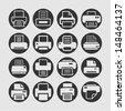 Print icons - stock