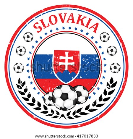 printable slovakia soccer team grunge stamp slovakian football national team sign containing a soccer