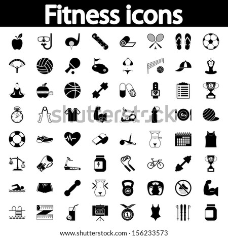 Fitnessl icons for your website vector illustration stock vector