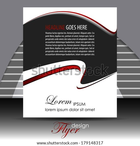 Professional business flyer template or corporate banner/design for publishing, print and presentation.