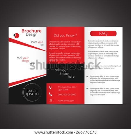 Professional business three fold flyer template, corporate brochure or cover design, can be use for publishing and printing.