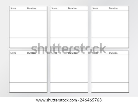 Professional Film Storyboard Template Easy Present Stock Vector