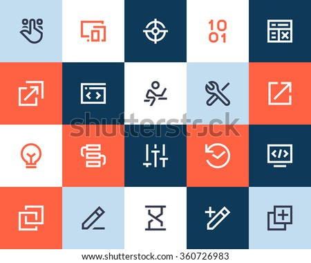 Programming Developer Icons Flat Style 360726983