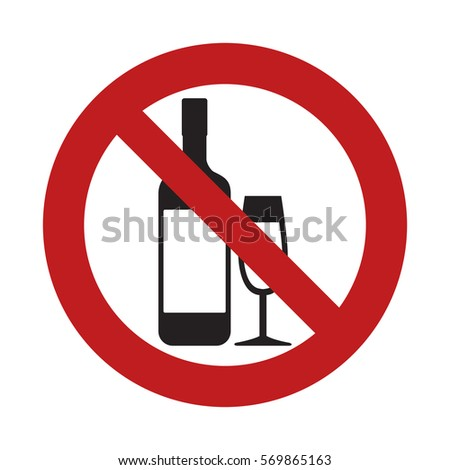 Drink Ink Of Alcoholic Beverages Prohibited Sign