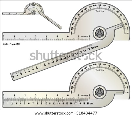 Protractor Angle Finder Arm Rotary Measuring Ruler