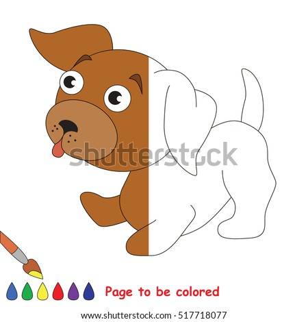 Puppy To Be Colored The Coloring Book Educate Preschool Kids With Easy Kid Educational