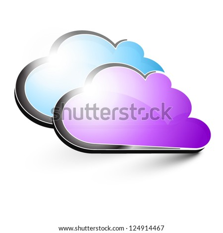purple and blue clouds